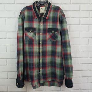 Max's Cotton Supply Plaid Button Down Shirt